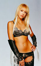 Jessica Alba 8x10 sexy leather chaps, leather bra, leather panties! second angle