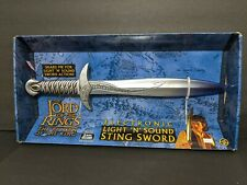 Lord of the Rings Electronic Light 'N' Sound Sting Sword Toy Biz 2003 Return