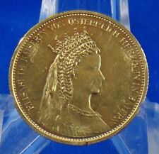"""Austria Elizabeth Kaiserin 20 Corona Gold Coin Medal """"Rare"""""""