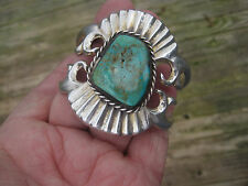 Estate, Western / Southwest-Style Sterling Silver and Turquoise Cuff Bracelet