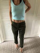 Khaki Next Cargo Pants Embroidered Size 8 - 10