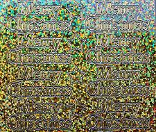 Diamond Sparkle MERRY CHRISTMAS Peel Off Sticker Sheet Card Making Craft 834