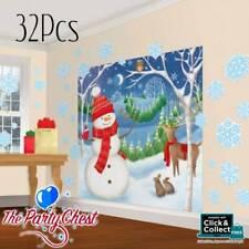 32 PC WINTER FRIENDS MEGA PACK Christmas Scene Setter Decoration Kit 670201