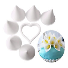 7PCS Calla Lily Former Flower Modelling Cutter Gum Paste Cake Decor Tool #WE9