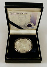 2008 SOUTH AFRICA 1 RAND PROTEA SERIES - MAHATMA GANDHI STERLING SILVER COIN