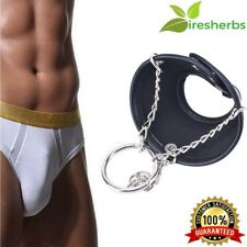 ADJUSTABLE LEATHER PENIS EXTENDER RING MALE CHASTITY DEVICE DELAY COUPLE LOVER