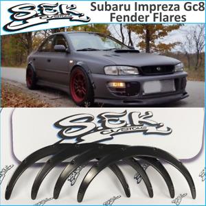 Subaru Impreza 4 doors fender flares set,wide body kit, ABS smooth plastic. GC8