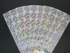 100 ROUND HOLOGRAM SCRATCH OFF STICKERS SCRATCHIES DIY BABY SHOWERS DISCOUNTS