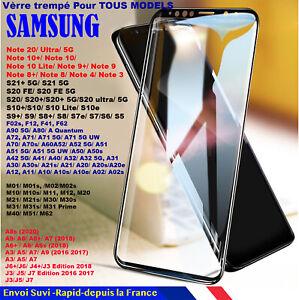 Film VITRE Protection écran VERRE Trempé Samsung Galaxy NOTE S20/S6/S7/S8/S9/S10