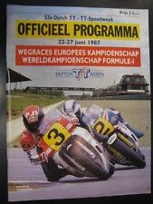 Officieel Programma Dutch TT-Speedweek Assen 1987