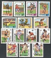 VIETNAM 1985-1986, WORLD SOCCER CUP - MEXICO, Scott 1576-1582, 1606--1612, MNH