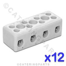 12x ceramica alta temperatura connettore elettrico blocchi 4 POLE 4mm 32 bis