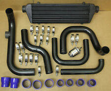 BLK ALUMINUM BLOT-ON TURBO INTERCOOLER PIPING KIT HONDA CIVIC 96-00 D16 B18 SSQV