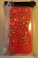 Victoria's Secret PINK Sparkly Shiny Jewels Pink Silver iPhone 5 Case Cover NEW