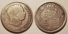 Royaume-Uni, Georges III, Shilling 1819, Assez rare !!