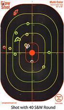 """40 Pack 16x10"""" Reactive Splatter Targets Glowshot Gun Rifle Shooting Glow Shot"""