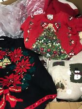 UGLY CHRISTMAS Sweaters Baled In 100 Lb Bale Vintage For Resale Party Bulk Lot
