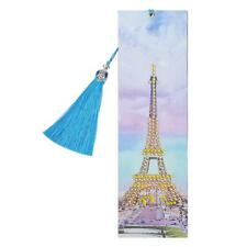 DIY Tower Special Shaped Diamond Painting Leather Tassel Bookmark Crafts