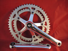 CLASSIC POLISHED ALLOY CHAINSET 1980`s - 42/52T SHIMANO BIOPACE ELIPTICAL RINGS