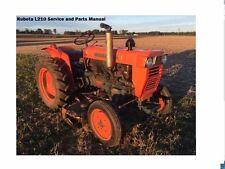 Kubota L210 L-210 Workshop Service & Parts Manuals 260pg for L200 Tractor Repair