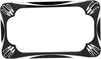 Arlen Ness Black Deep Cut Rear Motorcycle License Plate Frame Harley Davidson
