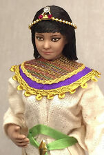 Miniature Porcelain Dollhouse Doll in 1:12 or 1/12th Scale-Egyptian Princess