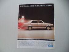 advertising Pubblicità 1987 SEAT MALAGA DIESEL