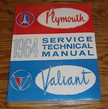 1964 Plymouth Valiant Technical Shop Service Manual 64