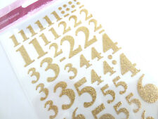 Sparkly Glitter Gold Sticky Adhesive Numbers Labels Stickers for Craft WD-8