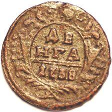 1738.Russia Empire . Denga  . Coper Coin