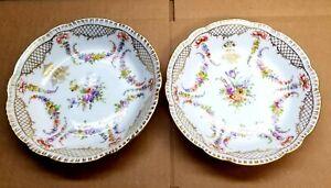 Vintage Dresden Two Salad Bowls.