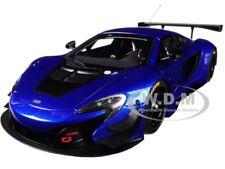 MCLAREN 650S GT3 AZURE BLUE WITH BLACK ACCENTS 1/18 MODEL CAR BY AUTOART 81641