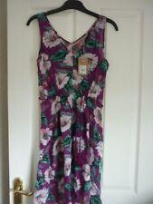 MANTARAY PURPLE TROPICAL FLORAL SWING SUN DRESS. UK 18, EUR 44-46, US 14. BNWT