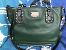 b7e157f505b3 Michael Kors Green Leather Handbag USED