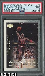 2000 UD Century Legends Commemorative #70 Michael Jordan 48/50 PSA 9 POP 2