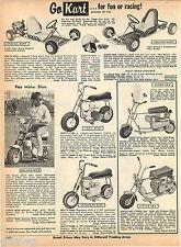 1969 ADVERTISEMENT Mini Bike Fox Go Kart Super Gen Little Windshield Trail