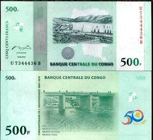 Congo 500 Francs 2010 Comm. P 100 UNC