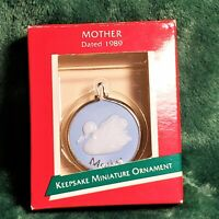 White Swan Mother Christmas Ornament Miniature Vintage 80s 1989
