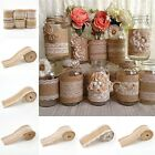 Vintage Lace Edged Hessian Burlap Ribbon Roll for Rustic Wedding Party Decor
