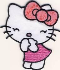 Hello Kitty - Candy pink - Aufnäher Aufbügler Bügelbild Patch - Neu #9122