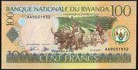 2003 Rwanda 100 Francs Banknotes * UNC * P-29a *