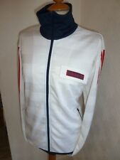 MENS ADIDAS ORIGINALS WHITE 80'S CASUALS FIREBIRD TRACK JACKET ZIP CARDIGAN L