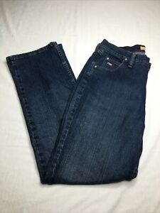 Tulsa Twenty X Low Rise Jeans Womens Sz 13/14 Straight Leg Dark Wash Denim Blue