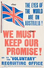 WW1 RECRUITING POSTER AUSTRALIANS ANZACS EYES OF THE WORLD NEW A4 PRINT