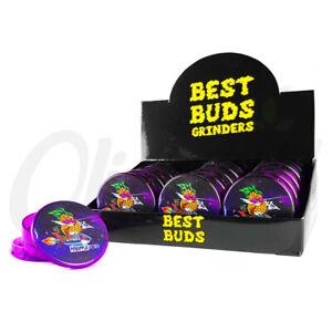 Best Buds 50mm 3 Part Plastic Grinder Stash Container No1 Crusher Sharp Teeth