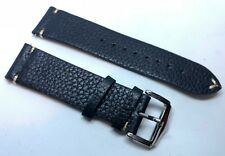 02 Straps Black Cow Hide Vintage Leather watch band strap 21mm Please Read Below