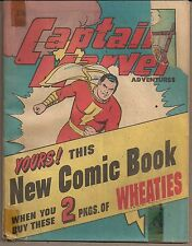 CAPTAIN MARVEL ADVENTURES FAWCETT WHEATIES 1945 PROMOTIONAL MINI COMIC 32 PGS