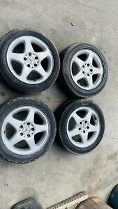 MERCEDES C CLASS W203 4x ALLOY WHEELS WITH TYRES 205/ 55/ R16