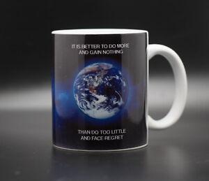 EARTH mug - with 'Precautionary Principle' message