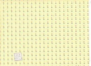 Wallpaper - 1/12 scale dollhouse miniature 1pc WP459